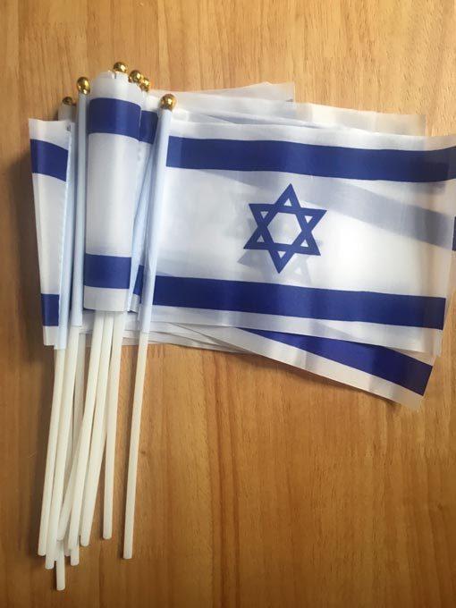 Handheld Israel Flags