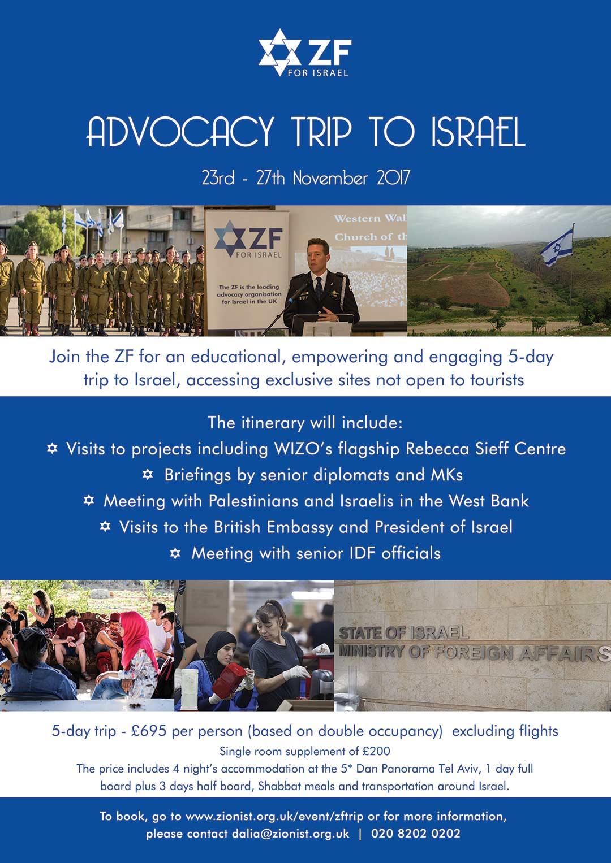 ZF Advocacy trip to Israel