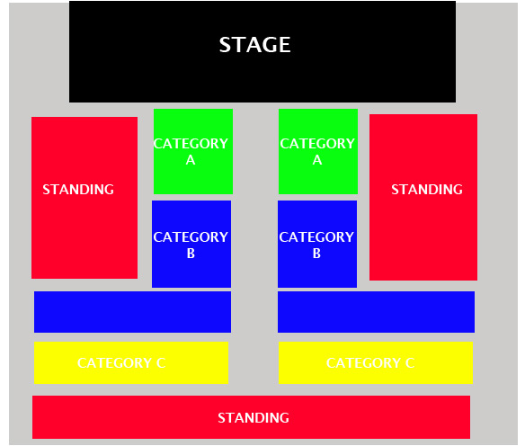 Seating Map for YH70