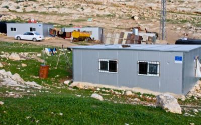 Who is funding illegal Palestinian settlement in Area C?