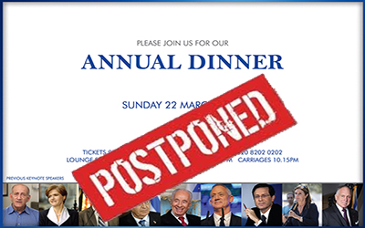 ZF postpones its annual fundraising dinner due to COVID-19