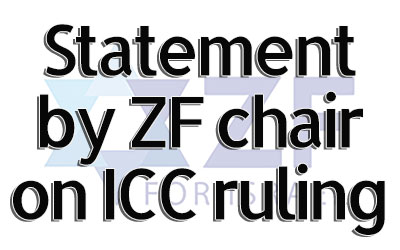 ZF Statement on ICC with resources and articles