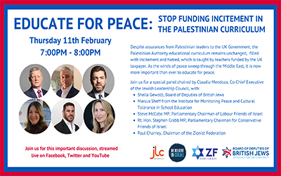 Educate for Peace: Stop Funding Incitement in the Palestinian Curriculum