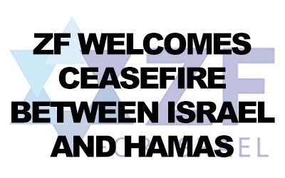 Zionist Federation welcomes ceasefire between Israel and Hamas