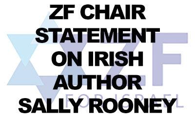 The Zionist Federation of UK and Ireland criticises Irish author, Sally Rooney